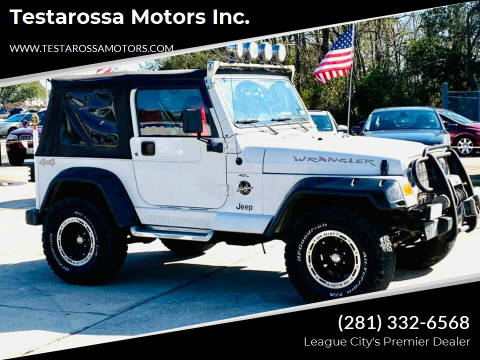 2000 Jeep Wrangler for sale at Testarossa Motors Inc. in League City TX