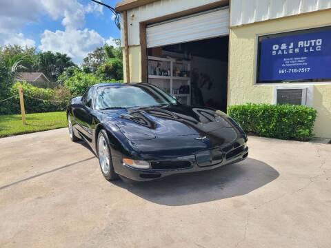2000 Chevrolet Corvette for sale at O & J Auto Sales in Royal Palm Beach FL