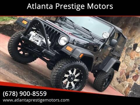 2006 Jeep Wrangler for sale at Atlanta Prestige Motors in Decatur GA