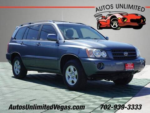 2003 Toyota Highlander for sale at Autos Unlimited in Las Vegas NV