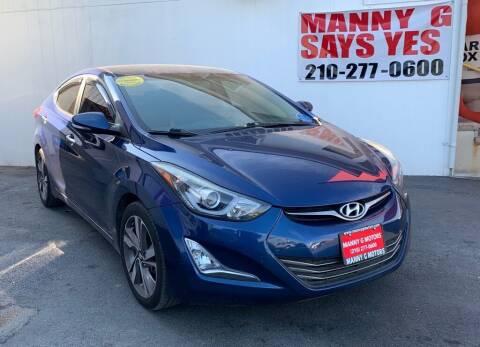 2016 Hyundai Elantra for sale at Manny G Motors in San Antonio TX