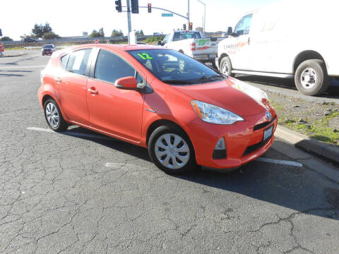 2012 Toyota Prius c for sale at Sutherlands Auto Center in Rohnert Park CA