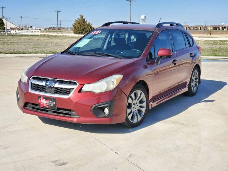 2012 Subaru Impreza for sale at Chihuahua Auto Sales in Perryton TX