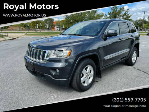 2012 Jeep Grand Cherokee for sale at Royal Motors in Hyattsville MD