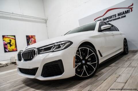 2021 BMW 5 Series for sale at AUTO IMPORTS MIAMI in Fort Lauderdale FL
