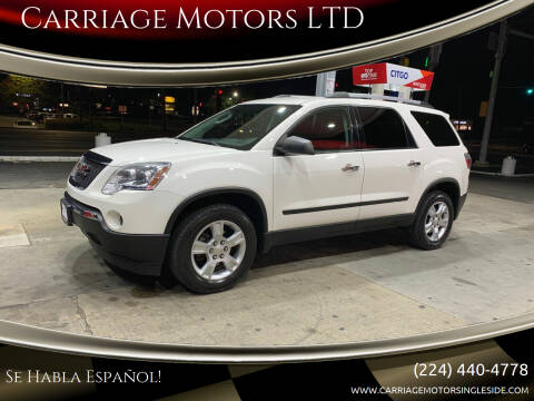 2011 GMC Acadia for sale at Carriage Motors LTD in Ingleside IL