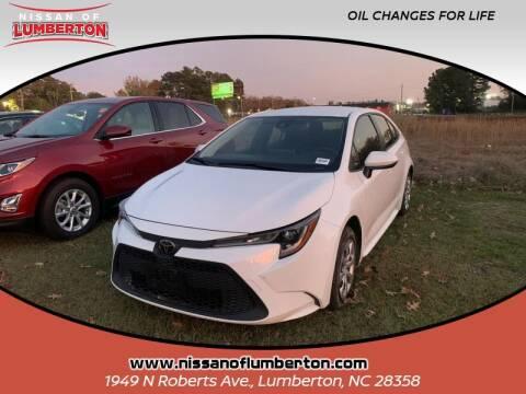 2020 Toyota Corolla for sale at Nissan of Lumberton in Lumberton NC