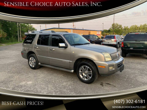 2008 Mercury Mountaineer for sale at Sensible Choice Auto Sales, Inc. in Longwood FL