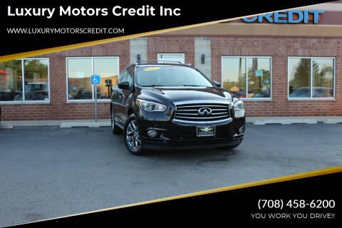 2013 Infiniti JX35 for sale at Luxury Motors Credit Inc in Bridgeview IL