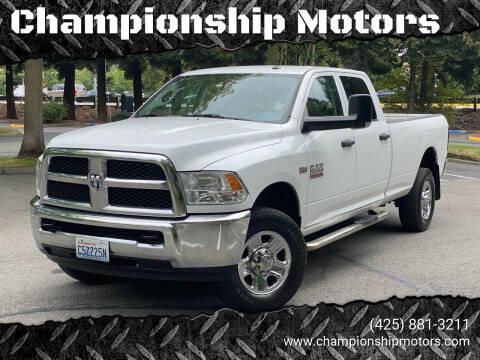 2014 RAM Ram Pickup 2500 for sale at Championship Motors in Redmond WA