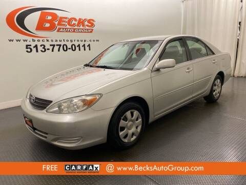 2003 Toyota Camry for sale at Becks Auto Group in Mason OH