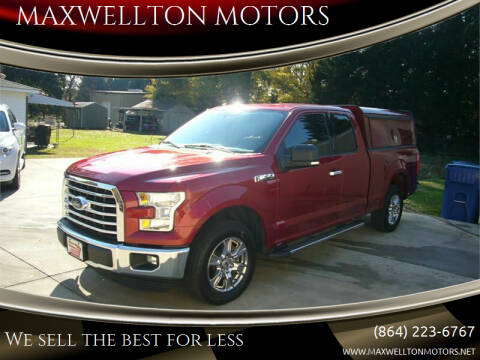 2016 Ford F-150 for sale at MAXWELLTON MOTORS in Greenwood SC