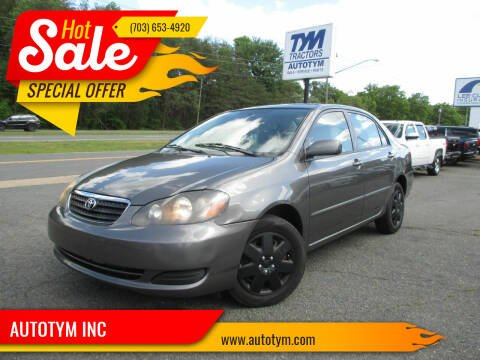 2008 Toyota Corolla for sale at AUTOTYM INC in Fredericksburg VA