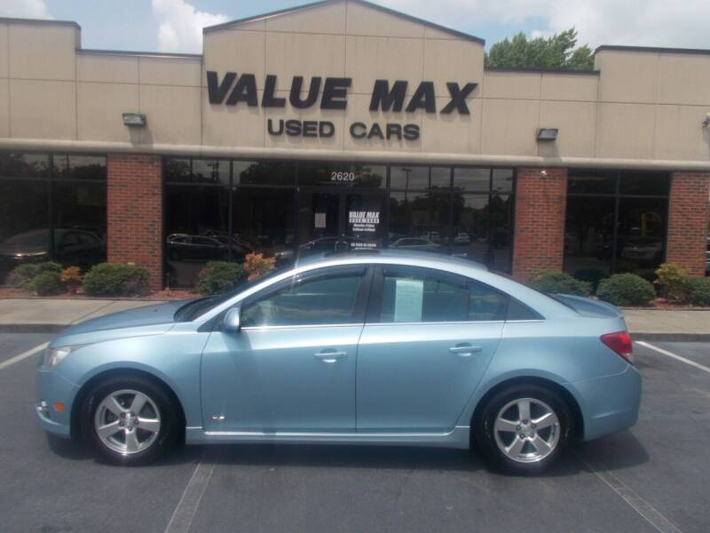 2012 Chevrolet Cruze for sale at ValueMax Used Cars in Greenville NC