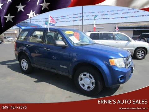 2008 Ford Escape for sale at Ernie's Auto Sales in Chula Vista CA