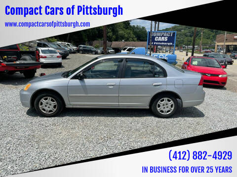 2002 Honda Civic for sale at Compact Cars of Pittsburgh in Pittsburgh PA