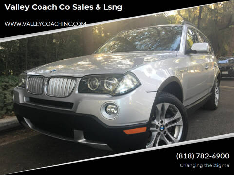 2007 BMW X3 for sale at Valley Coach Co Sales & Lsng in Van Nuys CA