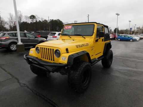 2001 Jeep Wrangler for sale at Paniagua Auto Mall in Dalton GA