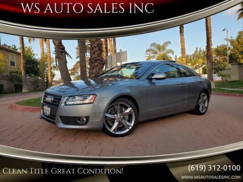 2011 Audi A5 for sale at WS AUTO SALES INC in El Cajon CA