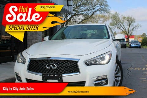 2015 Infiniti Q50 for sale at City to City Auto Sales - Raceway in Richmond VA