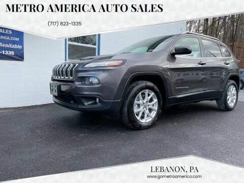 2014 Jeep Cherokee for sale at METRO AMERICA AUTO SALES of Lebanon in Lebanon PA
