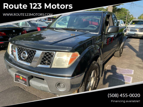 2005 Nissan Frontier for sale at Route 123 Motors in Norton MA