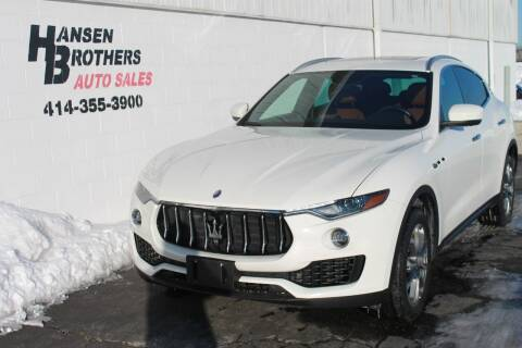 2017 Maserati Levante for sale at HANSEN BROTHERS AUTO SALES in Milwaukee WI