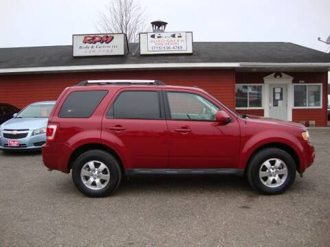 2010 Ford Escape for sale at G and G AUTO SALES in Merrill WI