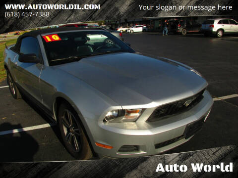 2010 Ford Mustang for sale at Auto World in Carbondale IL