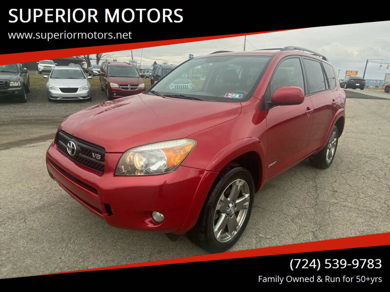 2008 Toyota RAV4 for sale at SUPERIOR MOTORS in Latrobe PA