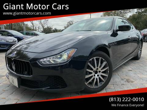2014 Maserati Ghibli for sale at Giant Motor Cars in Tampa FL
