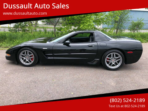 2003 Chevrolet Corvette for sale at Dussault Auto Sales in Saint Albans VT