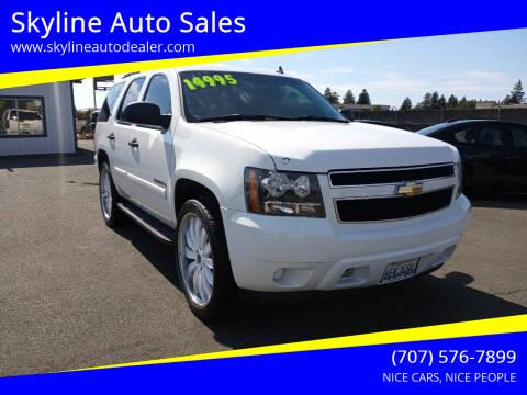 2008 Chevrolet Tahoe for sale at Skyline Auto Sales in Santa Rosa CA