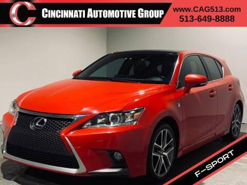 2014 Lexus CT 200h for sale at Cincinnati Automotive Group in Lebanon OH