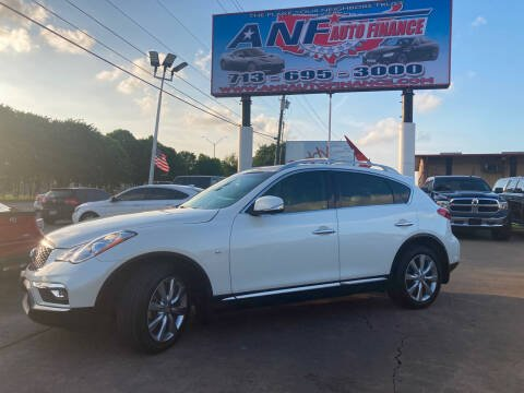 2017 Infiniti QX50 for sale at ANF AUTO FINANCE in Houston TX