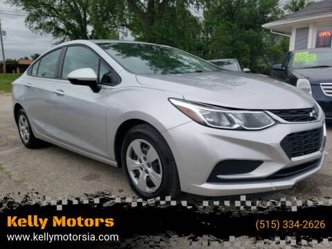 2017 Chevrolet Cruze for sale at Kelly Motors in Johnston IA