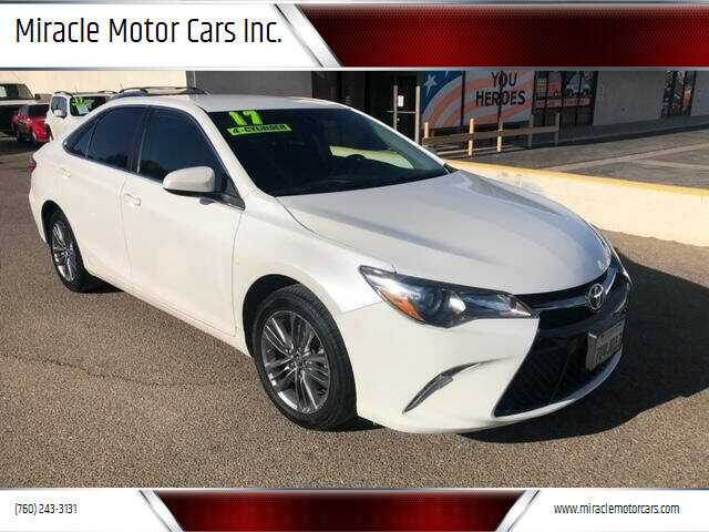2017 Toyota Camry for sale at Miracle Motor Cars Inc. in Victorville CA