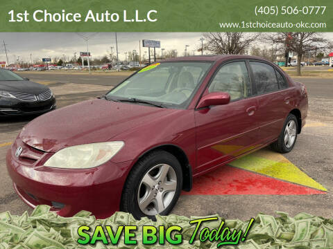 2004 Honda Civic for sale at 1st Choice Auto L.L.C in Oklahoma City OK