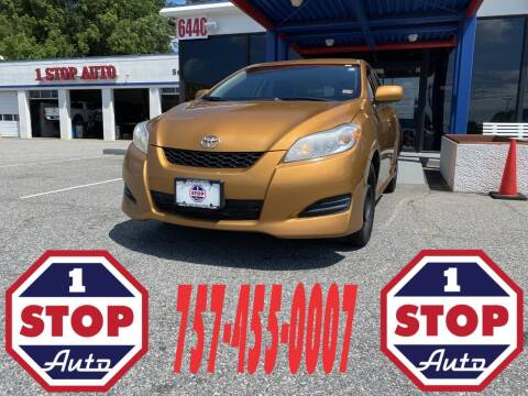 2009 Toyota Matrix for sale at 1 Stop Auto in Norfolk VA