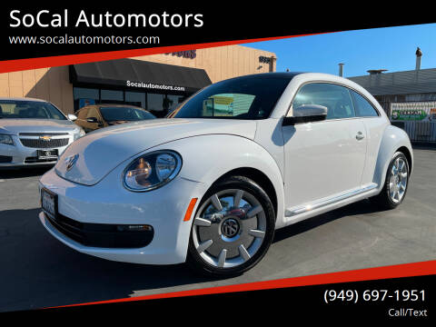 2013 Volkswagen Beetle for sale at SoCal Automotors in Costa Mesa CA