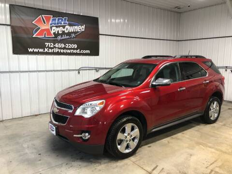 2015 Chevrolet Equinox for sale at Karl Pre-Owned in Glidden IA
