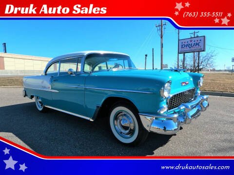 1955 Chevrolet Bel Air for sale at Druk Auto Sales in Ramsey MN