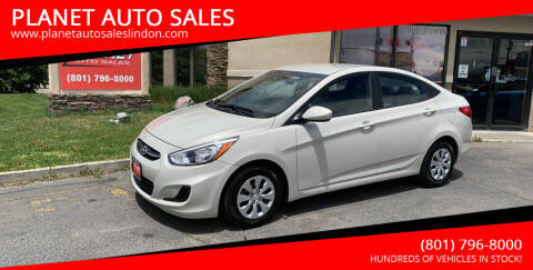 2016 Hyundai Accent for sale at PLANET AUTO SALES in Lindon UT