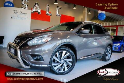 2015 Nissan Murano for sale at Quality Auto Center of Springfield in Springfield NJ