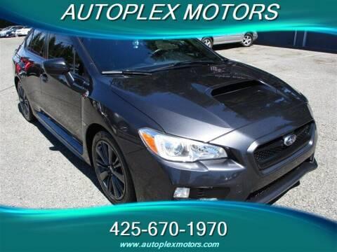 2017 Subaru WRX for sale at Autoplex Motors in Lynnwood WA