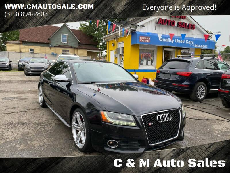 2011 Audi S5 for sale at C & M Auto Sales in Detroit MI