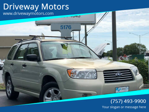2006 Subaru Forester for sale at Driveway Motors in Virginia Beach VA