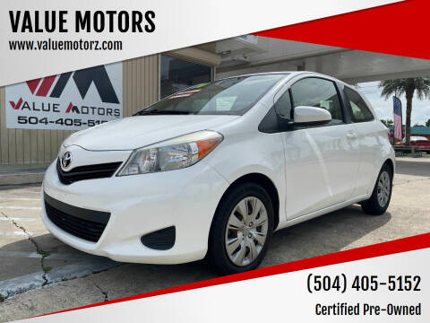 2014 Toyota Yaris for sale at VALUE MOTORS in Kenner LA
