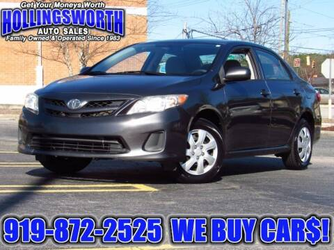 2011 Toyota Corolla for sale at Hollingsworth Auto Sales in Raleigh NC