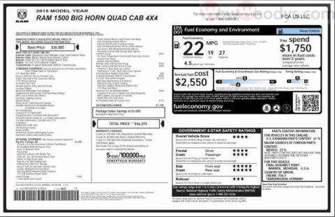 2015 RAM Ram Pickup 1500 for sale at WOODY'S AUTOMOTIVE GROUP in Chillicothe MO